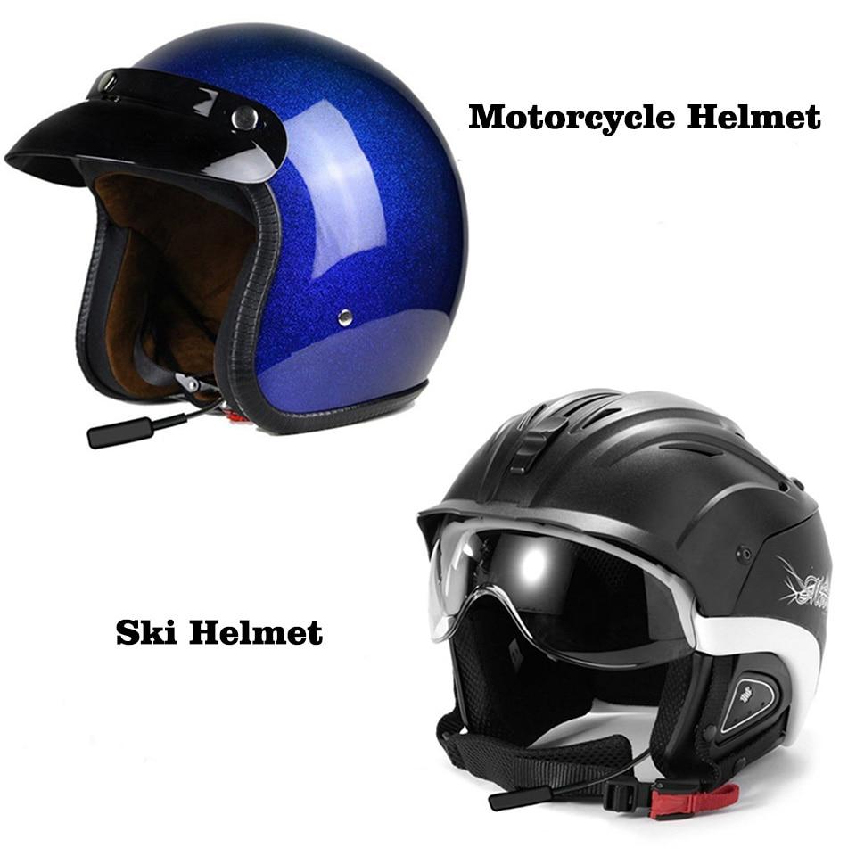 HUOSLOOG Walkie Talkie Helmet Bluetooth Headset Ski Racing Car Motorcycle Helmet Wireless earphone For Baofeng Kenwood Ksun TYT