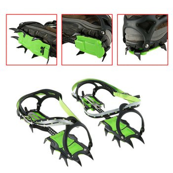14 Teeth Claws Crampons Shoes Non slip Cover Ice Gripper Outdoor Ski Ice Snow Grips Hiking Climbing Equipment