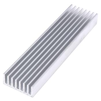 Wytłaczane z aluminium Radiator dla wysokiej dioda LED dużej mocy układ scalony chłodnica grzejnika Radiator Drop Ship 100*25*10mm tanie i dobre opinie Buytra NONE CN (pochodzenie) Komputer przypadku aluminum heatsink 0 9 W Łożysko kulkowe 30000 godzin 2500 RPM 21dBA 3 Linie