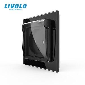 Image 3 - Livolo Israel Standard Steckdose, Kristall Glas Panel, 16A stecker mit Wasserdichte Abdeckung, 3pins stecker