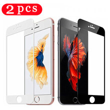2Pcs for iphone 5 5S SE 5C 6 6s 7 8 plus phone screen protector for iphone 11 pro X XS MAX XR Tempered glass protective film