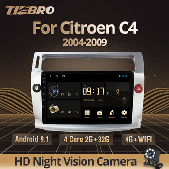 TIEBRO For Citroen C4 C-Triomphe C-Quatre 2004-2009 Car Radio Multimedia Video No 2 Din Dvd Player Android 9.0 GPS Navigation image