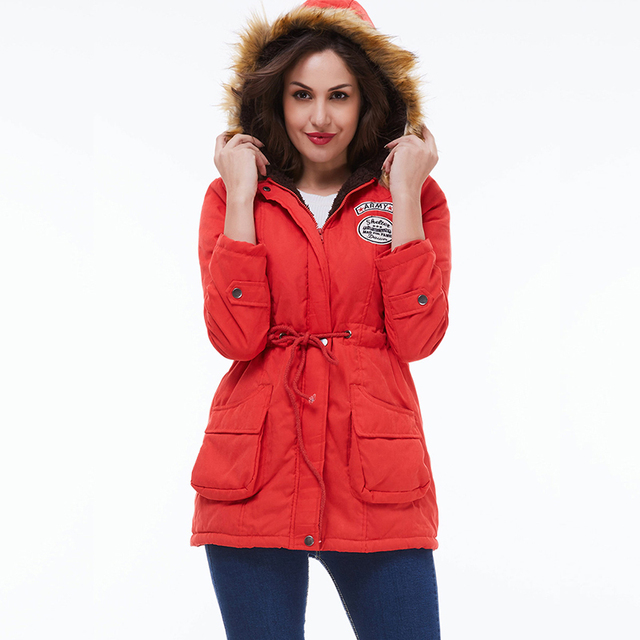 Ailegogo 2021 New Parkas Women Winter Coat Thickening Cotton Winter Jacket Womens Outwear Parkas For Female 5