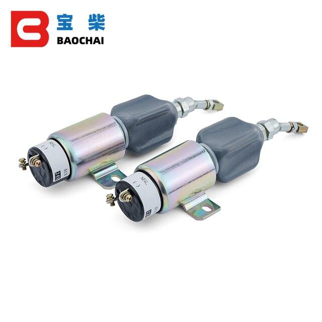 Groupe électrogène Diesel 12v/24V, moteur, pelle, extincteur, interrupteur à flamme et carburant arrêt lélectrovanne
