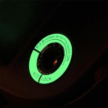 Car Sticker luminous key Ring Ghost Fire Pedal Car Coil Key Decal Honda Luminous For Ford Car Decor Ring LED Ignition Hole A5E9 image