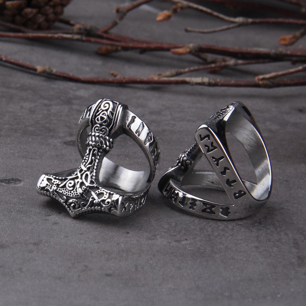 Нержавеющая сталь, норвежский викинг, скандинавский миф, молот Тора, высокое качество, модное кольцо, оптовая продажа, модные ювелирные изделия|Кольца|   | АлиЭкспресс
