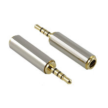 High Quality 1pc Gold 2.5mm to 3.5mm Male to Female audio Stereo Adapter Plug Converter Headphone jack