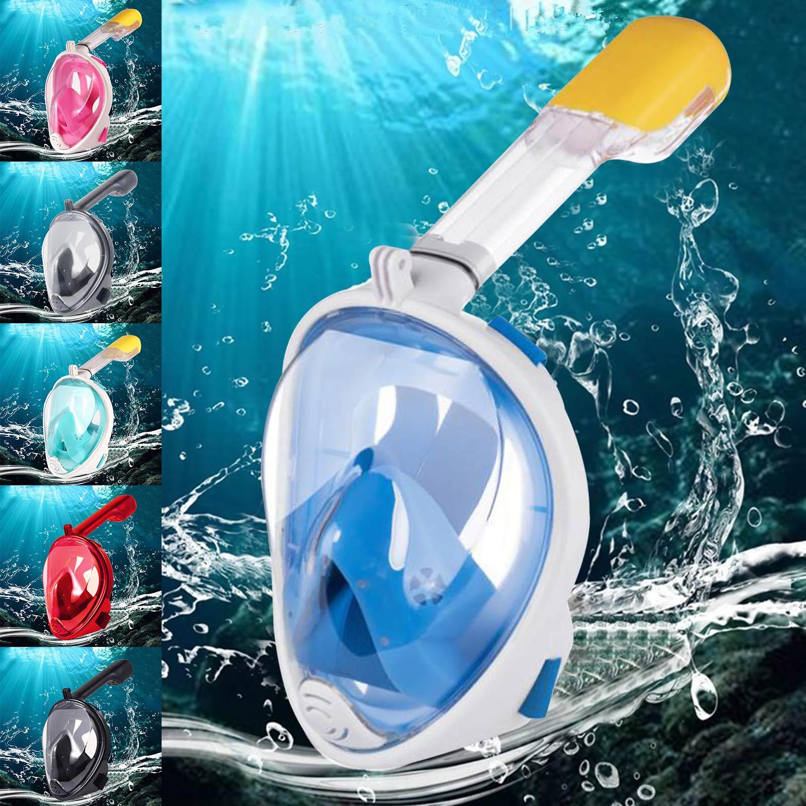 Детская маска для плавания с аквалангом, незапотевающая маска на все лицо для подводной охоты, очки, тренировочная маска, размер XS