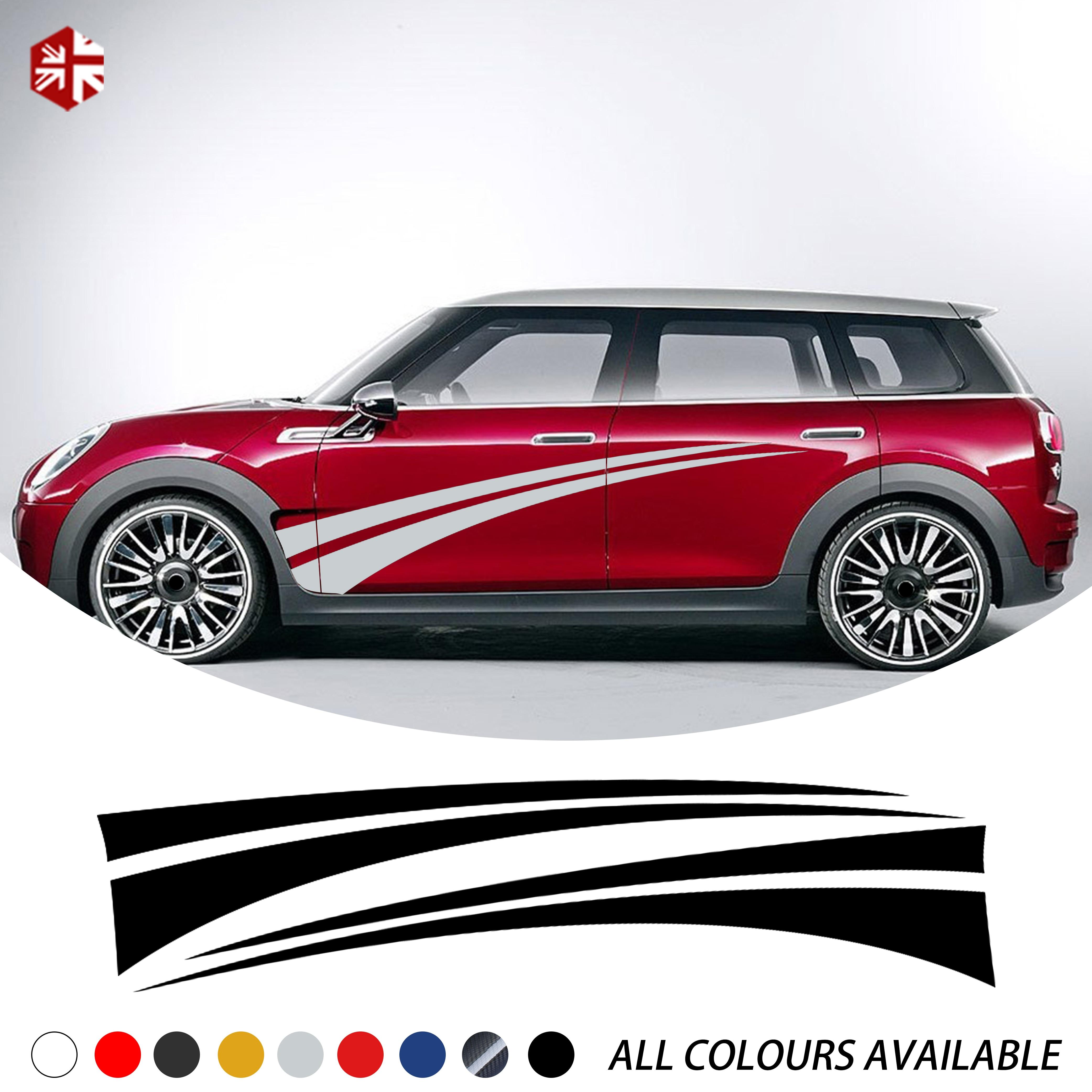 Car Body Sides Decoration Sticker Lattice Vinyl Decal For MINI Cooper Countryman