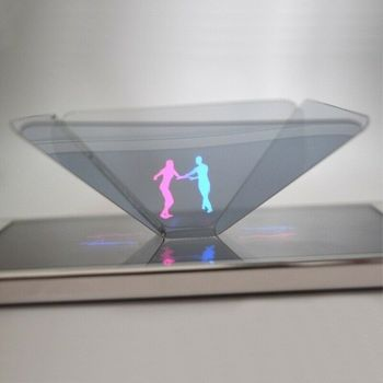 Dropshipping 3D Hologram Pyramid Display Projector Video Stand Universal For Smart Mobile Phone Portable 3D Theater Surprise