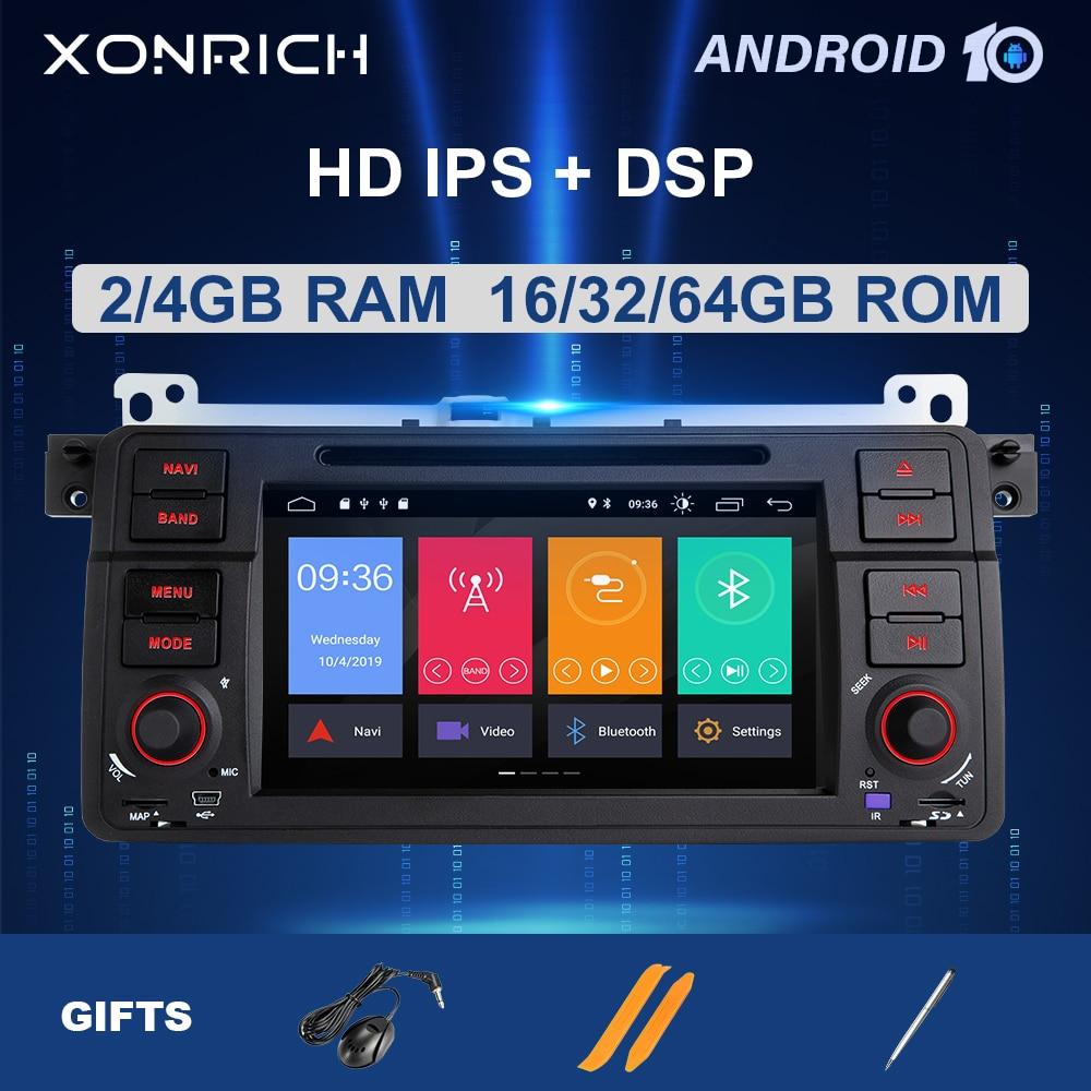 Xonrich 1 Din Android 10 samochodów Radio odtwarzacz multimedialny dla BMW E46 M3 Rover 75 Coupe 318/320/325/330 nawigacja GPS DVD jednostka główna