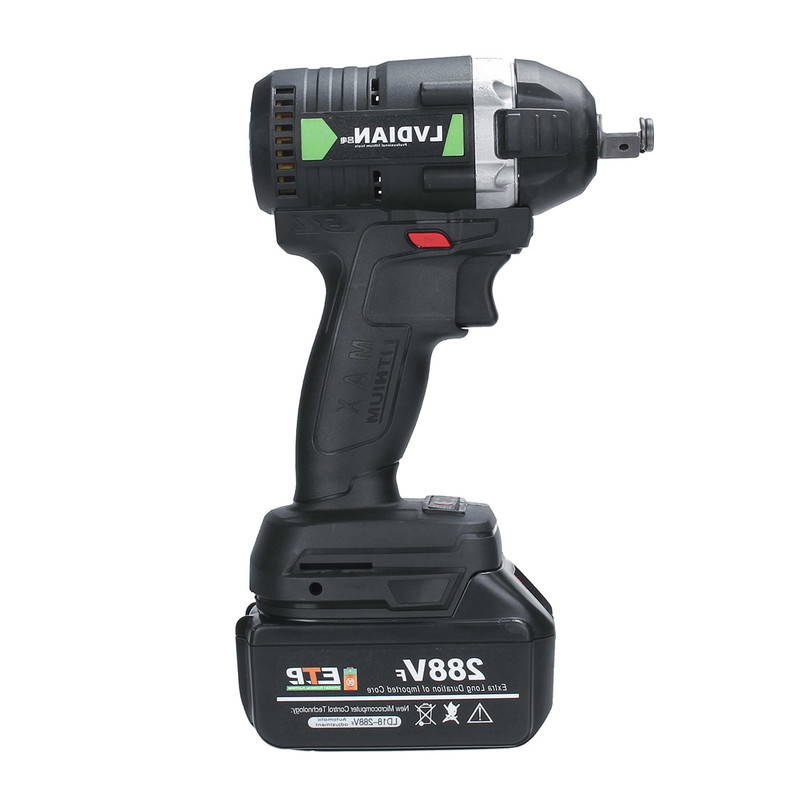 110-240V 630N.m 288VF Cordless Electric Impact Wrench Electric Wrench Brush with 1x Li-ion Battery Tools