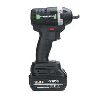 110 240V 630N.m 288VF Cordless Electric Impact Wrench Electric Wrench Brush with 1x Li ion Battery Tools