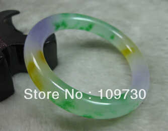 Frete grátis>>>>> 909314 natureza bela verde amarelo lavanda jadeite pulseira brangle 62mm