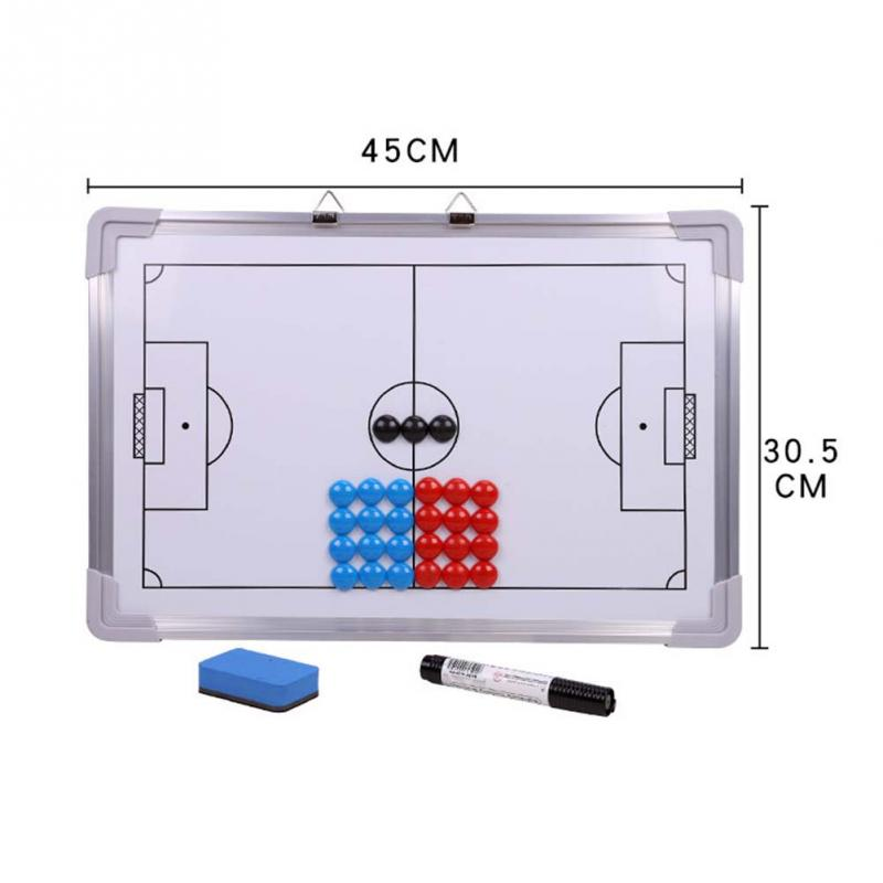 Magnetic Football Tactics Coaching Board Training Soccer Pro Double-Sided Tactic White Board Basketball Coaches Tactical Board