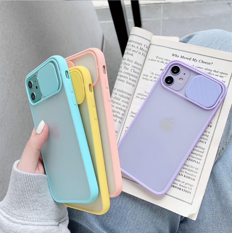 H45f3826a54204ae18cc6198b3ee702c0A Capinha celular iphone case Proteção da lente da câmera caso do telefone para o iphone 11 12 pro max 8 7 6s mais xr xsmax x xs se 2020 12 cor doces capa traseira macia