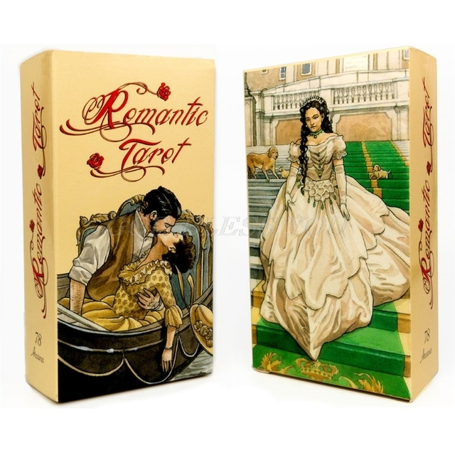 Romantic Tarot 78 Cards Deck English Tarot Guidance Fate Divination Oracle Family Party Board Game Playing Card Drop Shipping