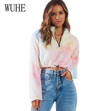 WUHE Autumn New Street Hipsters Velvet Korea Short Top Elegant Long Sleeve Zipper Lace-up Bralette Crop Streetwear