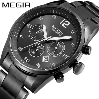 Luxury Brand 2019 New Men Watch Stainless Steel Strip Clock Male Quartz Sport Watch Men Casual Waterproof Shockproof Wristwatch in Quartz Watches from Watches