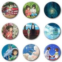Nengdou T14 японский аниме без лица Унесенные призраками рубашка значок Хаяо Миядзаки Брошь булавка рюкзак значок украшение на одежду и шляпу