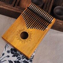 17 Keys Kalimba African solid Mahogany Thumb Piano 17 keys Solid Wood Kalimba Musical Instrument Finger Piano w14 thumb piano portable beginner instrument thumb piano 10 tone kalimba 10 fingers finger piano wear resistant