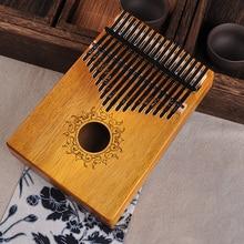 17 Keys Kalimba African solid Mahogany Thumb Piano keys Solid Wood Musical Instrument Finger w14