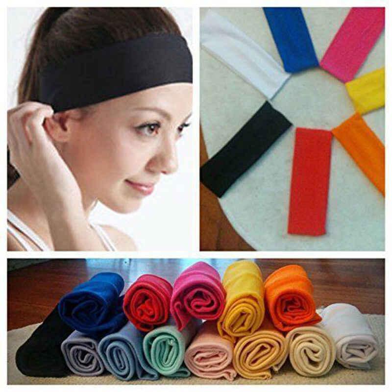 Lady sport opaska do włosów elastyczna szeroka siłownia joga ćwiczenia kobiet opaska z pałąkiem na głowę bandaż stałe Stretch airband elastyczna opaska do włosów