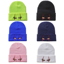 Beanie Hat Embroidery Clown Cosplay Skull Cap Knitted Scary Men Winter Women Hip-Hop