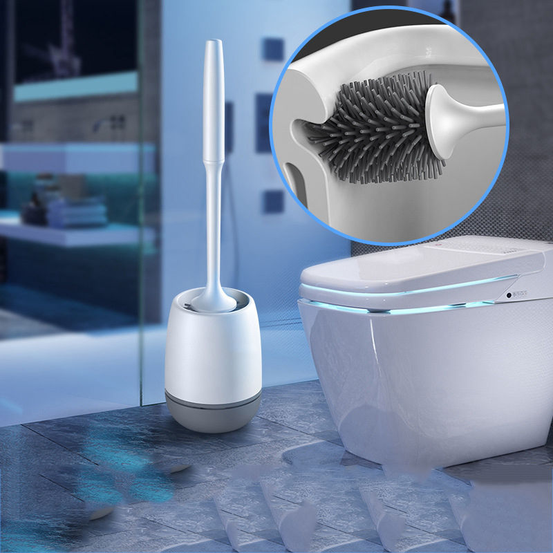 Силиконовая щетка для унитаза мягкие щетинки настенный ванной туалетом держатель кисть набор инструментов очистки прочная термопластичная резина