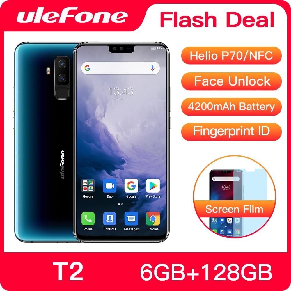 Фото. Смартфон Ulefone T2 Android 9,0 Dual 4G мобильный телефон 6 ГБ 128 ГБ NFC Восьмиядерный Helio P70 42