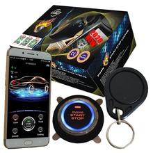 cardot 4g RFID remote start stop engine mobile app control car alarm
