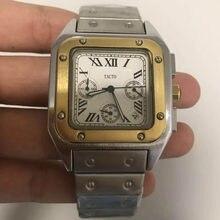 Reloj de pulsera para hombre, cronógrafo de cuarzo, funcional, a la moda, dorado, 2021