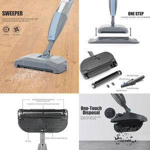 Image 4 - סמרטוט 3 ב 1 ספריי סמרטוט מטאטא מכונה שואב אבק קשה רצפת שטוח ניקוי כלי סט עבור ביתי יד כף קל להשתמש סמרטוט
