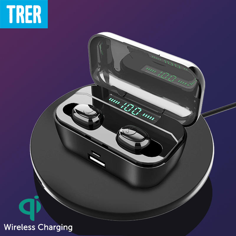 <font><b>Wireless</b></font> <font><b>Bluetooth</b></font> Kopfhörer IPX7 Wasserdichte <font><b>Bluetooth</b></font> 5,0 Touch Control in-ear Ohrhörer mit Stereo Sound 3500mAh Power Headset image