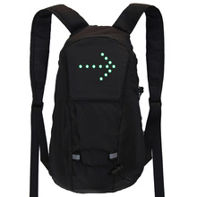 Bicycle Bag Waterproof Sport Backpack 15L LED Turn Signal Light Remote Control Safety Bag Outdoor Hiking Climbing Backpack