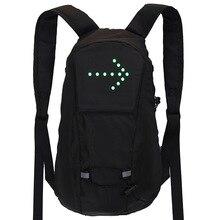 Borsa da bicicletta zaino sportivo impermeabile 15L LED indicatore di direzione borsa di sicurezza per telecomando zaino da arrampicata per escursionismo allaperto