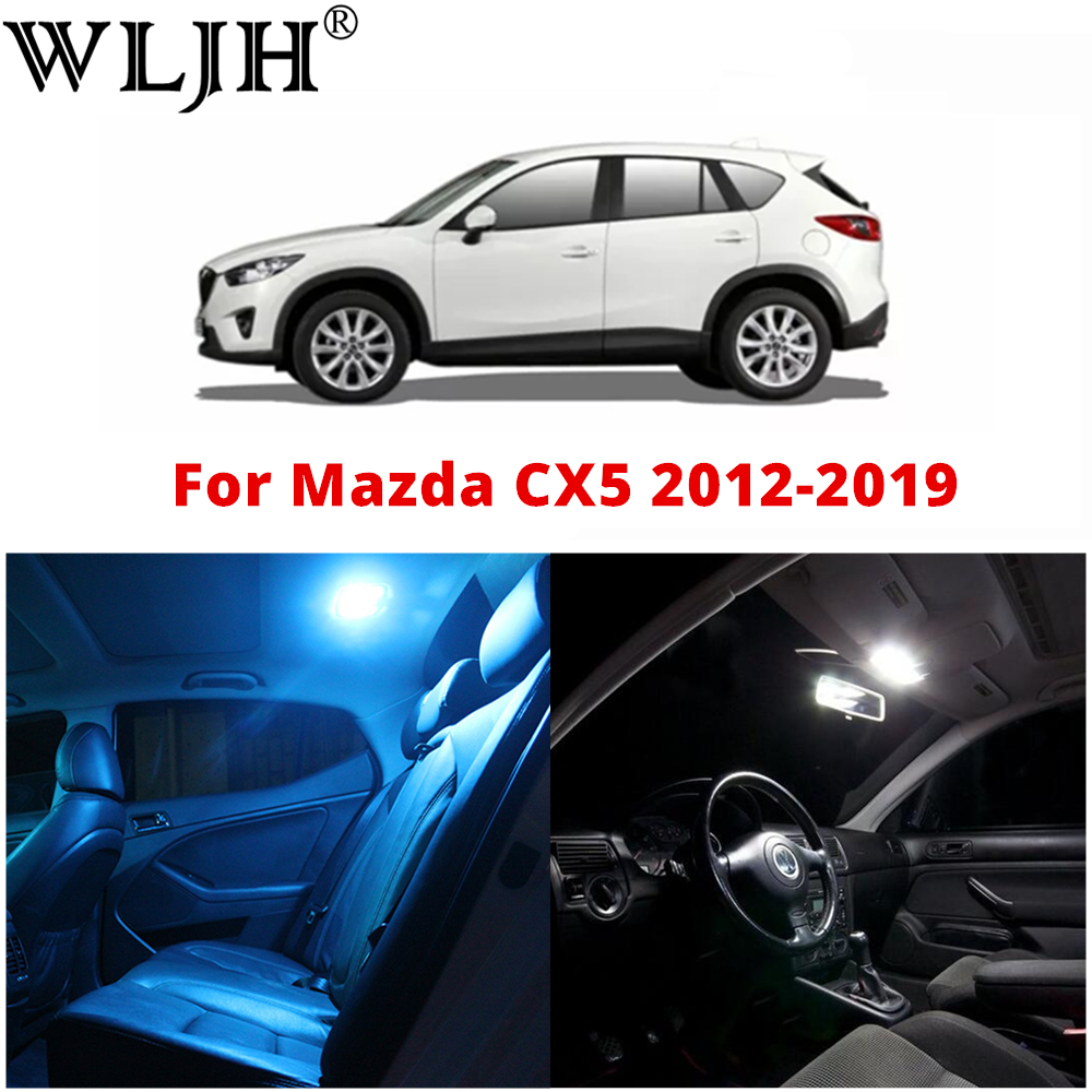 WLJH 9Pcs Canbus No Error 12v Car interior Led light Bulb Package Kit for 2012 2013 <font><b>2014</b></font> 2015 2016 2017 2018 2019 <font><b>Mazda</b></font> CX-5 <font><b>CX5</b></font> image