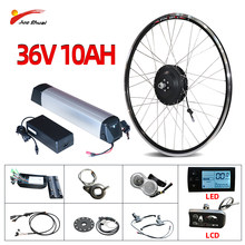 EU RU Duty free 36V 350W Ebike Kit 36V 10AH Lithium Battery Electric Bike Conversion Kit Front Brushless Gear Hub Motor Wheel(China)