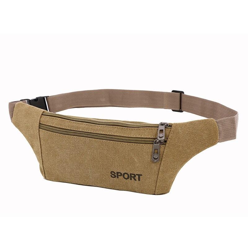 Outdoor Sport Waist Bag Multi-functional Hidden Wallet Men's Casual Men Canvas Waist Pack
