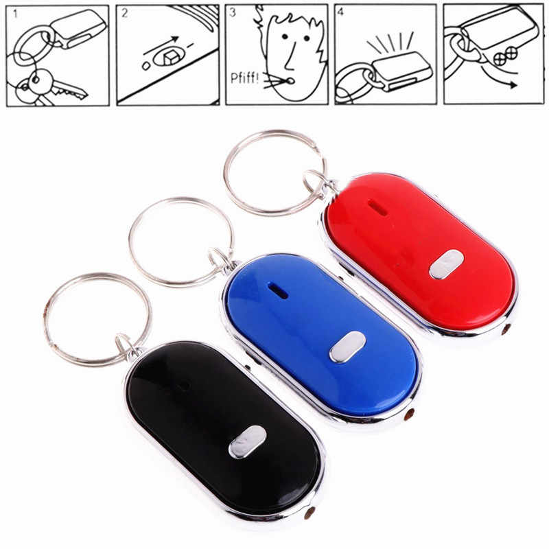 Anti-lost Whistle Keychain Key Finder Flashing Remote Kids Key Bag Wallet Locators Child Alarm Reminder Phone Find Anti-theft