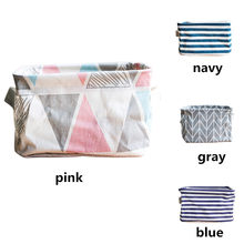 Foldable Colors Storage Bin Closet Toy Box Container Organizer Fabric Basket Desktop Storage Basket Bags Dropshipping #30(China)