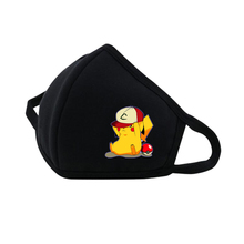 Game Pikachu Mouth Face Mask woman man Printed Dustproof Breathable Winter Warm Thicken Mouth Mask