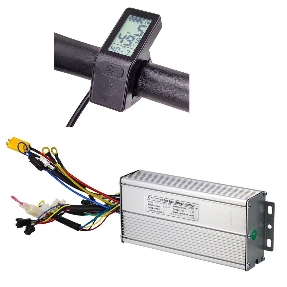 Контроллер электровелосипеда 1000 Вт работает с дисплеем KT LCD4 LCD5 контроллер KT 36 В 48 В имеет 12 Mosfet для электродвигателя 750 Вт 1500 Вт|Аксессуары для электровелосипедов|   | АлиЭкспресс