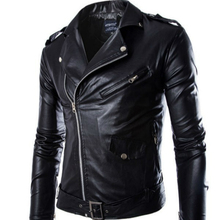 New Mens PU Leather Jacket For Men Fitness Fashion Male Zipper Casaco Masculino Casual Coat Quality Clothing