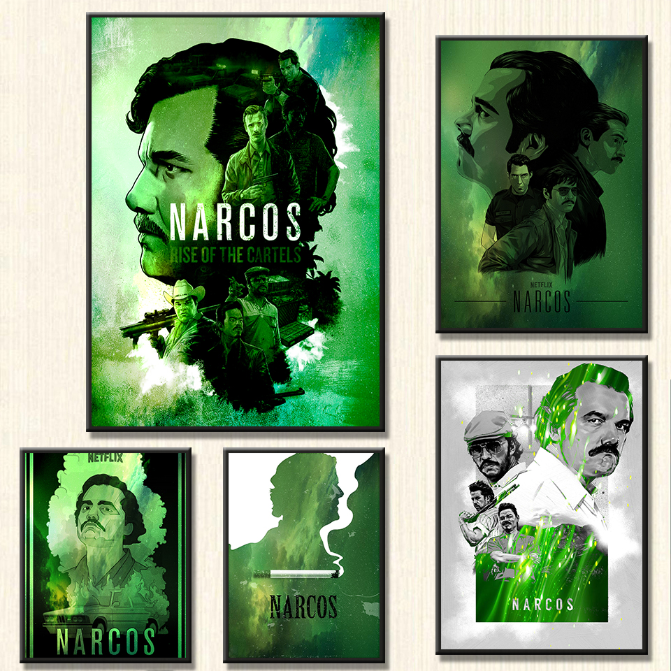Narcos Poster Movies American TV Wall Art Painting Poster Art Decor canvas painting Living Room Room Decorative