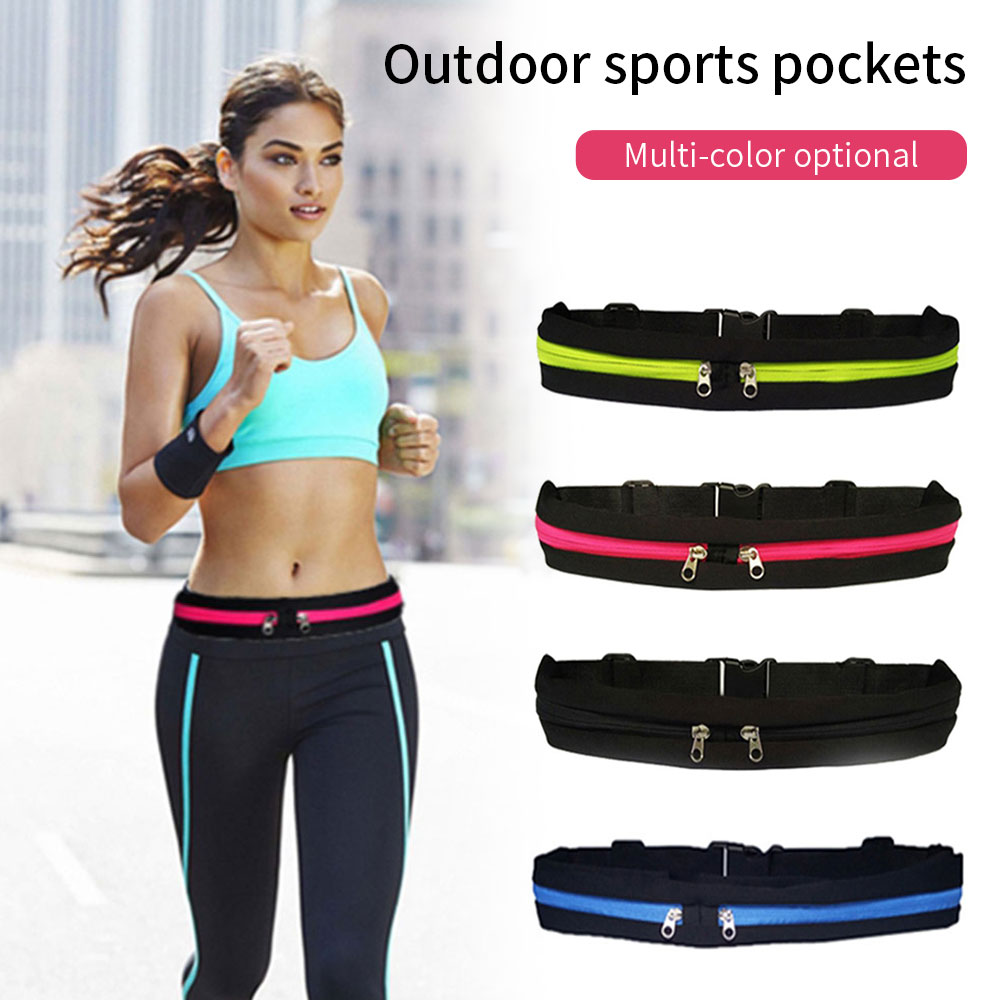 KISSCASE Universal Gym Waist Bag til iPhone X Xs Plus 6 6s Plus Justeringsknap Køres Sporttelefonpose til iPhone 7 8 Plus