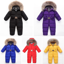 2019 Russia Winter Thicken Rompers Snowsuit Baby Boys$Girls Warm Hoodie Clothes Girls Duck Down girls winter Jacket Jumpsuit 2018 baby jumpsuits kids boys girls winter rompers overalls kids snowsuit duck down children jumpsuit hooeded warm baby rompers