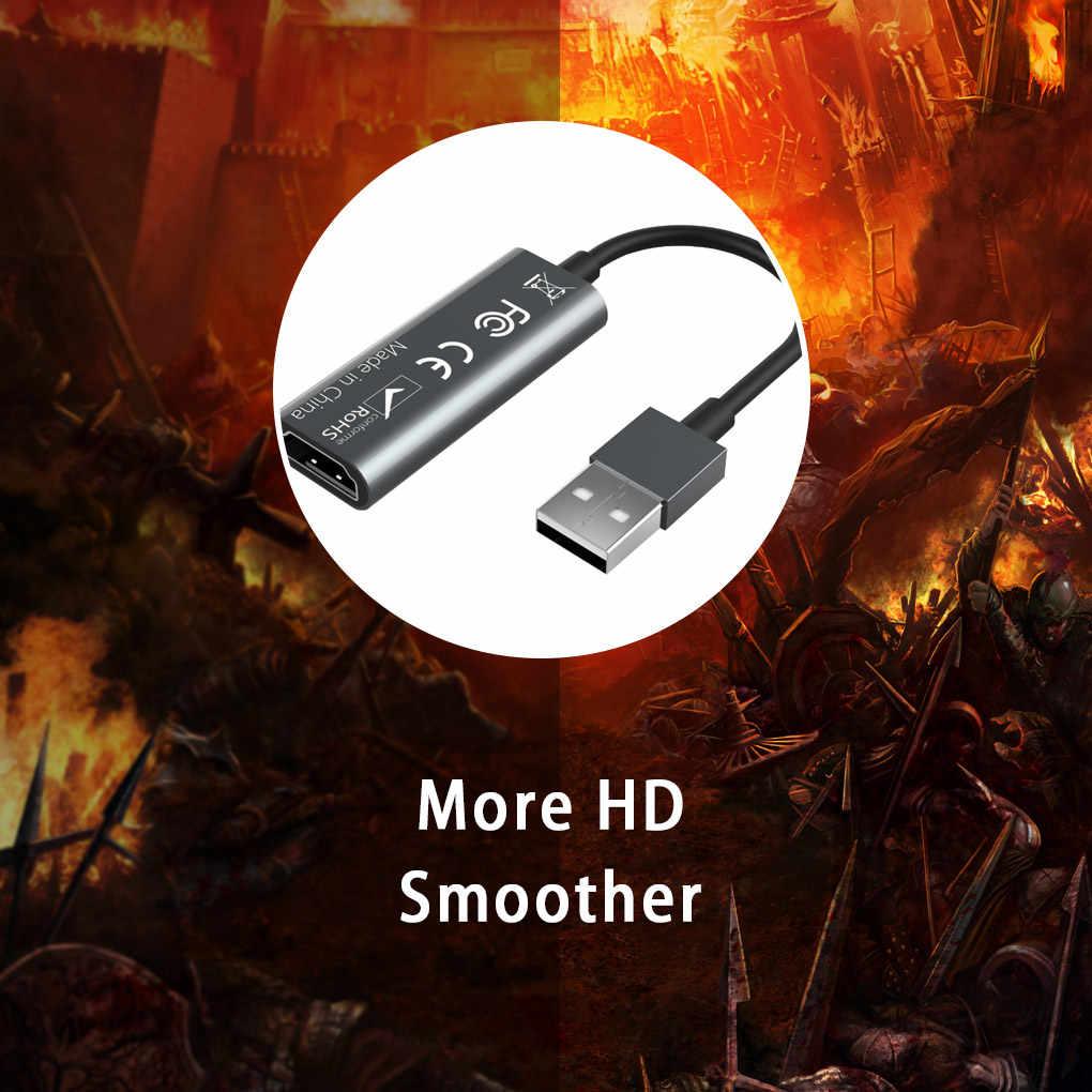 Portabel USB 2.0 Audio Video Capture Card HDMI untuk USB 2.0 1080P Mini Menangkap Kartu untuk Siaran Langsung Video rekaman
