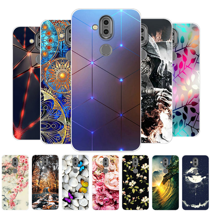 For <font><b>Nokia</b></font> X7 <font><b>Case</b></font> For <font><b>Case</b></font> <font><b>Nokia</b></font> <font><b>8.1</b></font> <font><b>Case</b></font> <font><b>Silicone</b></font> TPU Soft Back Cover Phone <font><b>Case</b></font> For <font><b>Nokia</b></font> <font><b>8.1</b></font> TA-1119 Nokia8.1 Bumper fundas image