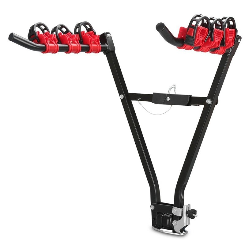 V Shape Iron Bicycle Rack 3-Bike Hitch Mount Car Racks Mountain Bike Carrier For Travel